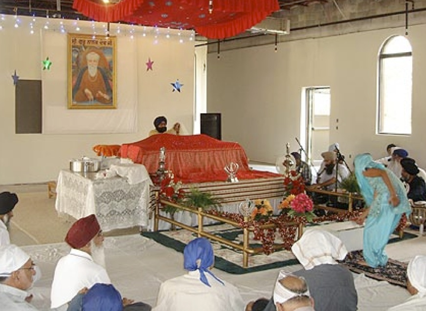 A Sikh spiritual celebration at the Gurdwara Nanaksar in Kissimmee, on the south side of Orlando, FL.